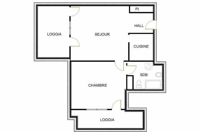 Millefiori appartement 2 pi ces monaco for Chambre 121 pdf