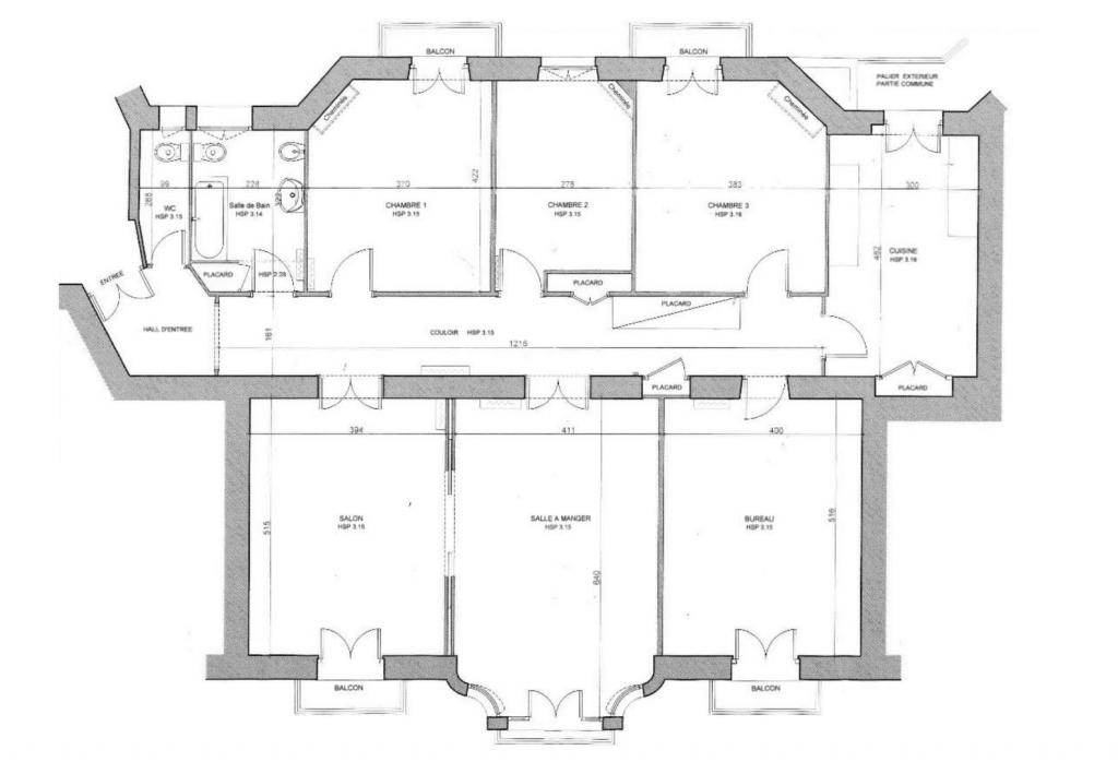 plan appartement bourgeois