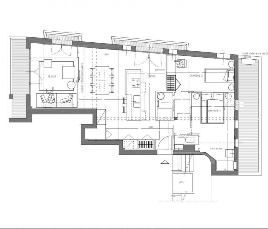 Monaco trianon 3 pi ces appartement 3 pi ces monaco for Trianon plan salle