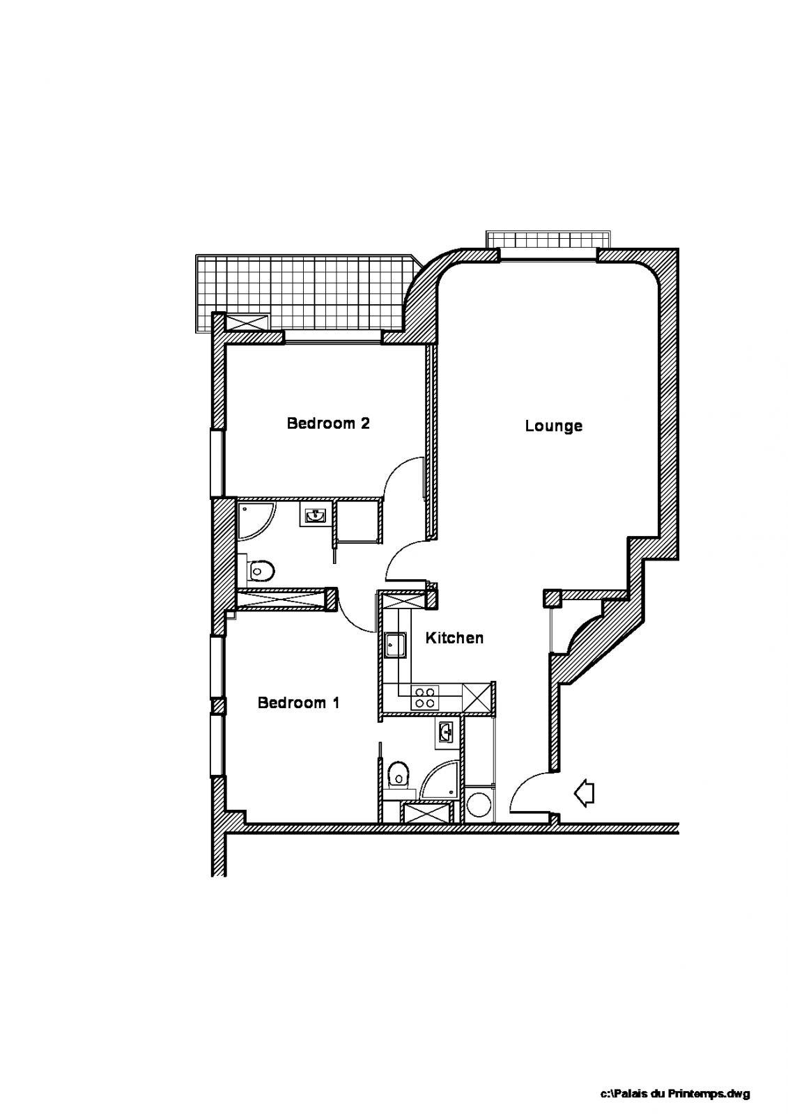 Renovated 2 bedroom, beautiful sea view - Apartment 3 rooms Monaco
