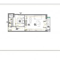 Large studio convertible into 2 rooms