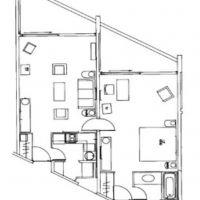 Agréable 2 Pièces meublé situé dans une résidence