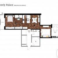 Luxueux 2 pièces au Beverly Palace