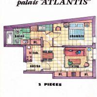 2 Pieces Palais Atlantis avec Terrasse et double parking