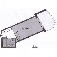 Large renovated studio in luxury building