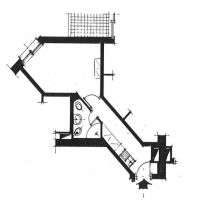 Studio in hight standing building