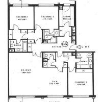 3 bedroom apartment Le Roc Fleuri