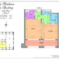 Large 1bedroom furnished in Résidence du Sporting