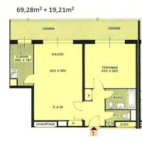 2-room flat in a luxury residence