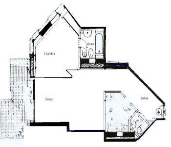 2 rooms Apartment