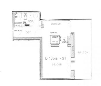 Studio avec cave et parking dans immeuble moderne