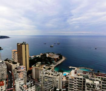 MONACO, 2 ROOMS APARTMENT WITH TERRACE PANORAMIC SEA VIEW