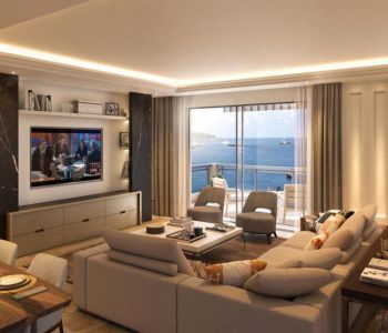 MONACO, SALE 4 ROOMS APARTMENT PANORAMIC SEA VIEW