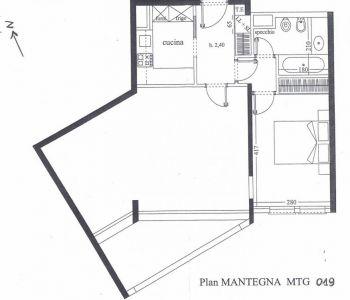LE MANTEGNA - 2 Pièces - Cave et Pk - 4 900 €