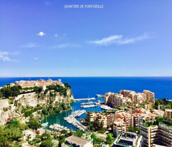 Vast family apartment, Port of Fontvieille