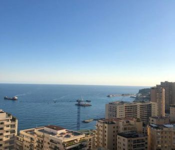 Spacious 2 room apt with panoramic view from Italy to the port of MC - Ch Perigord