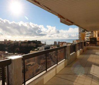3/4 bedrooms apt in Moneghetti - panoramic view