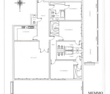 3 bedroom apartment Memmo Center-Fontvieille
