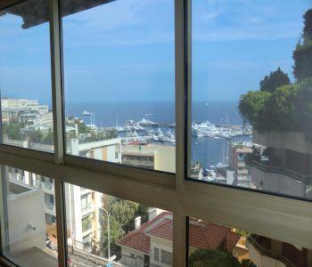 Overlooking the port of Monaco