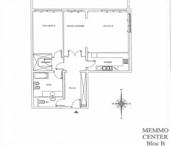 Grand 2 pièces à louer au Memmo Center