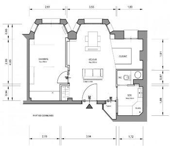 PALAIS BELVEDERE-2 ROOMS-UNDER LAW 887