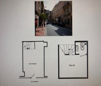 Beautiful commercial space with double window, rue Grimaldi