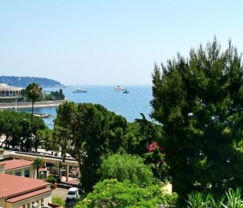 Large bright Studio with view over the sea and Cap Martin